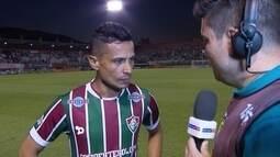 Cícero comemora estreia do Flu com vitória sobre o Cruzeiro em Edson Passos