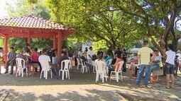 Servidores estaduais protestam contra não pagamento de parcela do 13º salário