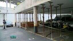 Garagem de prédio é interditada por risco de desabamento no ES