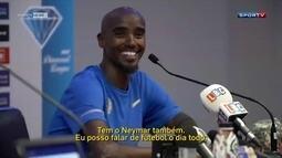Fã de futebol, Mo Farah diz estar animado para competir no Brasil