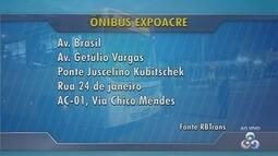 Linha exclusiva de ônibus ficará disponível durante as nove noites de Expoacre na capital