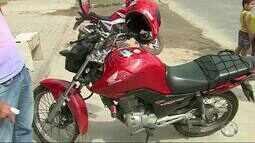 Suspeito de assalto é atropelado após roubar moto de mototaxista em Caruaru