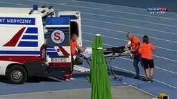 Espanhol arremessa martelo em cima do pé de um dos juízes pelo Mundial Júnior de Atletismo