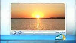 Telespectadora de Uberaba faz belo registro de pôr do sol no Rio Grande