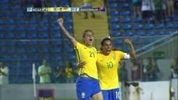 Os gols de Brasil 3 x 1 Austrália em amistoso internacional de futebol feminino