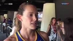 Após aquecimento, Fabiana Murer desiste de competir em Londres na Liga Diamante