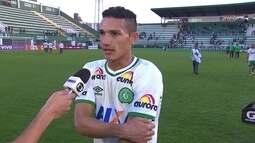 Lucas Gomes comemora poder dar a vitória a Chapecoense em jogo contra o Botafogo