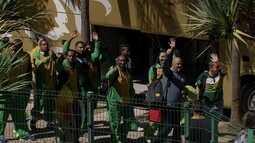 Seleção sul-africana de futebol chega ao DF para jogo no Mané Garrincha