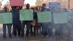 Protesto para o trânsito perto de Planaltina e Brazlândia