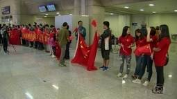 Delegações chegam ao Aeroporto Internacional do Rio, a 8 dias dos Jogos Olímpicos