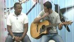 Cantor Gustavo Silva se apresenta ao vivo no ESTV, em Cachoeiro, Sul do ES