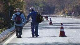 Dnit reforça sinalização para oferecer segurança a romeiros na BR-365 em Uberlândia