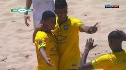 Os gols de Brasil 8 x 1 EUA pelo Mundialito de Futebol de Areia