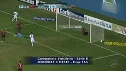 Oeste faz duelo direto contra Joinville para afastar risco da degola na Série B
