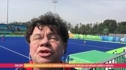 Marcelo Madureira confere como se torce no hóquei sobre grama
