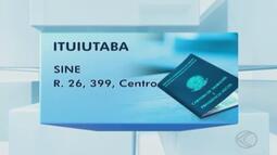 Sine de Ituiutaba oferece novas oportunidades de emprego