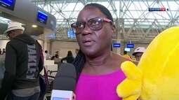 Mãe de Usain Bolt deixa o Brasil e fala sobre desempenho do filho na Olimpíada