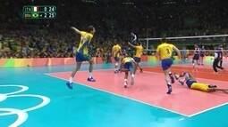 Melhores momentos: Brasil 3 x 0 Itália na decisão do vôlei masculino
