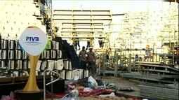 Palco de ouro brasileiro, arena do vôlei de praia na Olimpíada começa a ser desmontada