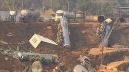 PF também investiga área de desmoronamento de terra no Rio Madeira, em Porto Velho
