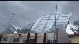 Forte tempestade destrói telhados, derruba árvores e deixa população sem energia em RR