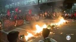 Manifestação contra Temer e em apoio a presidente afastada Dilma termina em confronto