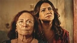 Beatriz e Piedade se preocupam com Luzia