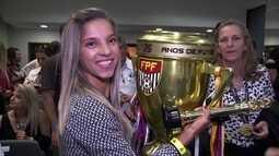 Jogadoras eleitas para seleção do Campeonato Paulista de Futebol Feminino recebem prêmio
