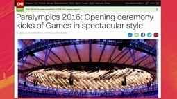 Cerimônia de Abertura da Paralimpíada repercute nos jornais internacionais