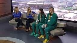 Medalhistas de prata, Alana Maldonado e Willians Silva são os convidados do Bom dia SporTV