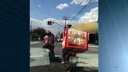 Flagras mostram motoristas cometendo infrações de trânsito na Grande Goiânia