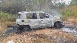 Carro usado para matar homem no aeroporto de RO é achado incendiado