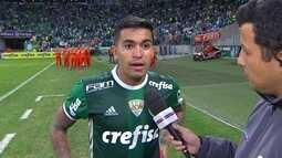 Dudu comemora vitória e ainda não ter perdido um jogo como capitão do Palmeiras