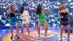 Lexa, Bella Falconi e Maíra Charken dançam 'É o Tchan' com Sheila Carvalho