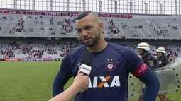 """""""Sem dúvida é o melhor momento da minha carreira"""" diz o goleiro Weverton do Atlético-PR"""