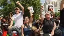 Ruas de Charlotte recebem novo protesto contra morte de cidadão negro pela polícia