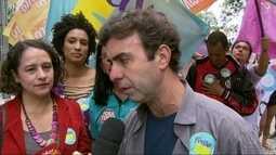 Marcelo Freixo(PSOL) faz campanha no Centro