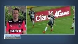 Victor, goleiro do Atlético-MG, comemora vitória sobre a Juventude