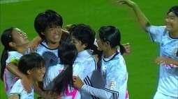 Os gols de Espanha 0 x 3 Japão pela Copa do Mundo Sub-17 de futebol feminino