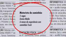 Confira as vagas de trabalho oferecidas pelo Sine Bahia nesta sexta (21)