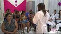Mulheres participam de ações do outubro rosa em Colatina, Noroeste do ES