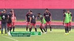 Flamengo treina no Ninho do urubu de olho no jogo contra o Corinthians no Maracanã