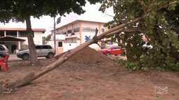 Chuva com granizo em Timon e Matões, no Maranhão