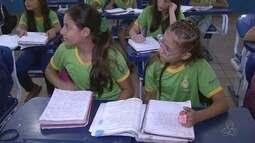 Crianças da Venezuela se matriculam em escolas de Boa Vista