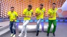 Globo Esporte SP recebe jogadores do Palmeiras campeões do Brasileirão