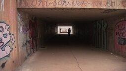Pedestres reclamam da insegurança nas passagens subterrâneas do DF