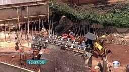 Operário é atingido por muro em desabamento no bairro Serra, em Belo Horizonte
