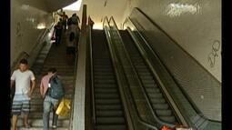 Escada rolante do Pórtico Metrópole está parada