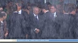 Presidente Michel Temer chega à Arena Condá para velório das vítimas da Chapecoense