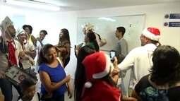 Lucy Alves e Fulô de Mandacaru visitam crianças do Hospital da Polícia Militar